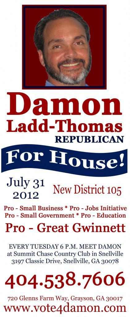 Damon Ladd-Thoams Deserves Your Vote for New District 105 in Georgia's House of Representatives