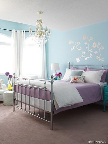 Blue And White Bedroom Design Classy Chambre Bleue Et Mauve  Chambre Filles  Pinterest  Kids S And Room 2018