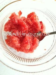 Strawberry Granita with Champagne and Frangelico