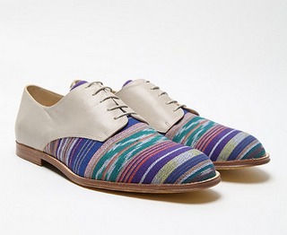 One Cool Ikat!  T & F Slack Ikat Denver Derby Shoe