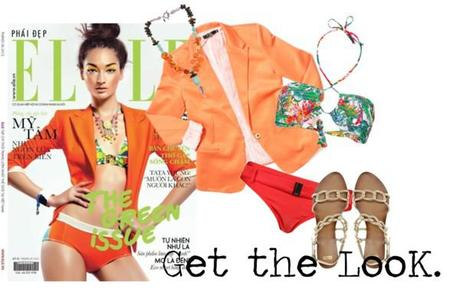 Get the Look. by momfashionlifestyle featuring orange bathing suits