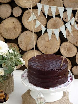 A Dessert Table With Beautiful Natural Earthy Tones And