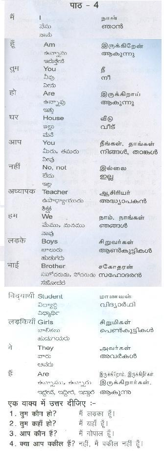 Learn Hindi with Vel Day Seven