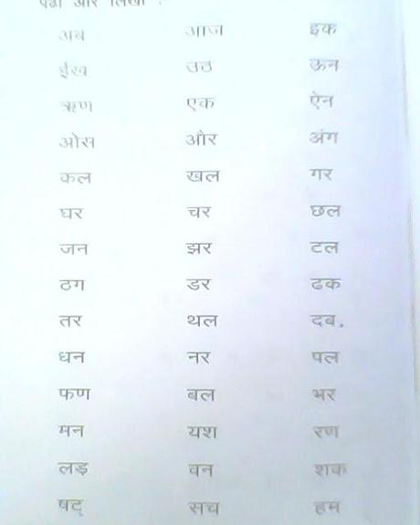 Learn Hindi with Vel Day Four Paperblog