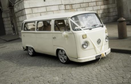 A little white wedding camper van with a story!
