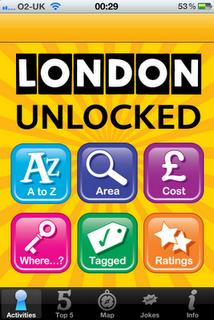 London Unlocked iPhone / iPad App and Guide Book