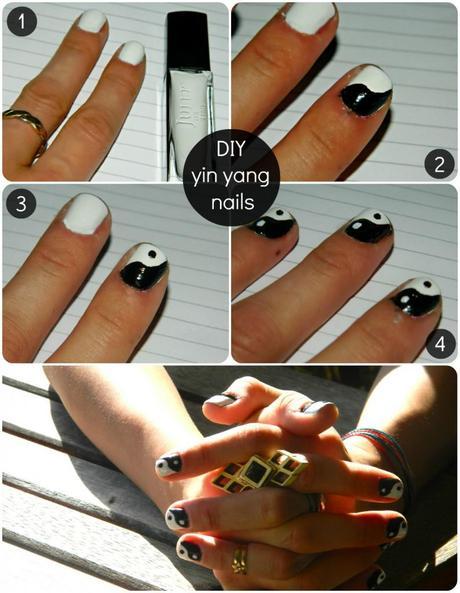 diy yin yang nails
