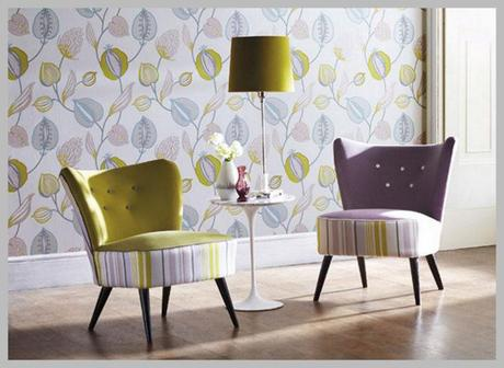 Wallpaper Wednesday: Harlequin's Tembok by Folia