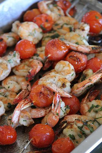 Grilled Jumbo Gulf Shrimp With Tomatoes & Chef Fabio Viviani