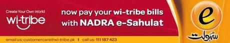 wi tribe Introduced Nadra E Sahulat for Paying Your Bills a Glorious Service