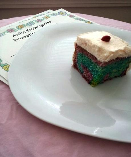Kindergarten Graduation Rainbow Cake