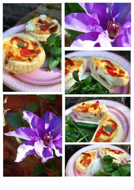 Sweet Pepper and Goat's Cheese tarts