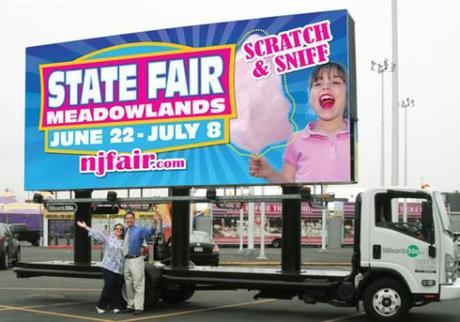 NJ State Fair Cotton Candy Scented Billboard by NJ Creative Direction