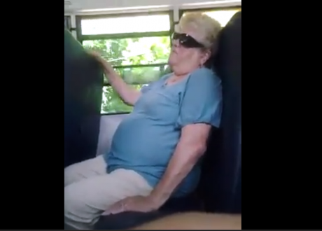 Bus monitor Karen Klein endures harassment from a group of middle schoolers in Greece, New York.