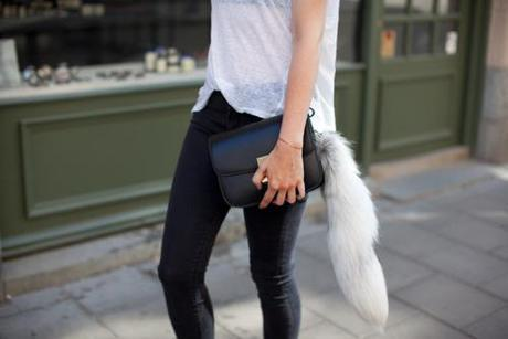 black and white summer street style