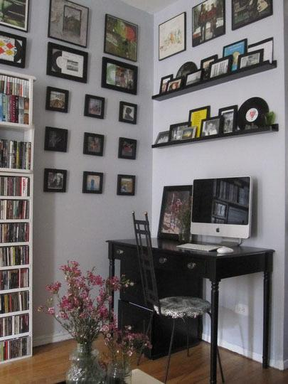 Beautiful and creative ways to display art and objects for Creative ways to display artwork
