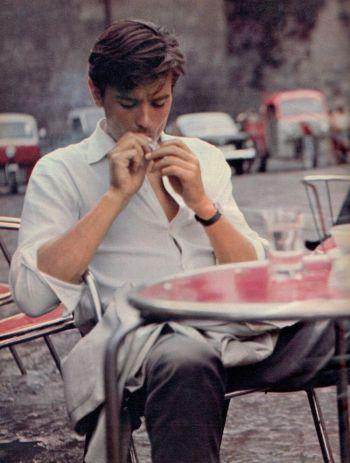 Purple Noon: Alain Delon Tailored in Summer-Weight Gray