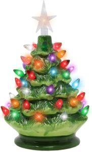 Battery Operated Ceramic Christmas Tree 2020