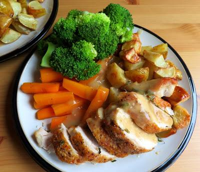 Roast Chicken, with Mini Roasts and Sides