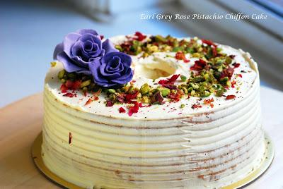 8 inches Earl Grey Rose Pistachio Chiffon Cake