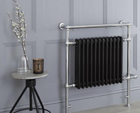 elizabeth black heated towel rail