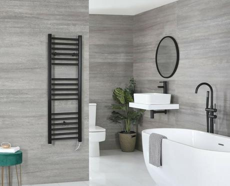 nero black electric towel rail