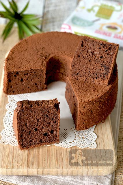 moist soft coffee cocoa egg white chiffon cake