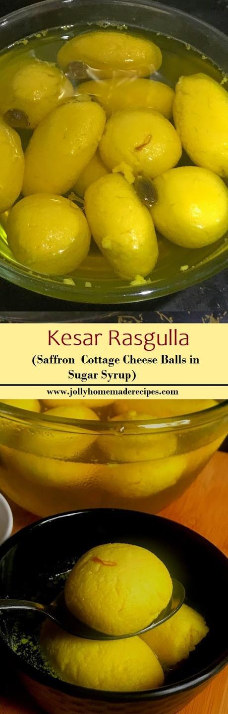 Kesar Rasgulla Recipe   How to make Kesari Rasgulla   Kesar Rasgulla Recipe Video