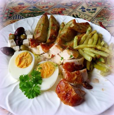 Chicken Nicoise Salad Platter