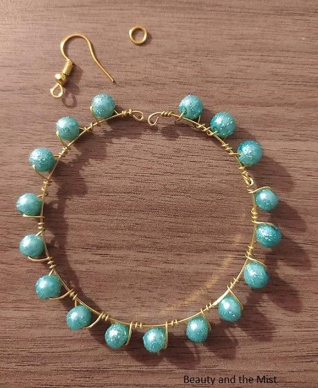 DIY: Handmade Gold And Turquoise Jewelry Set