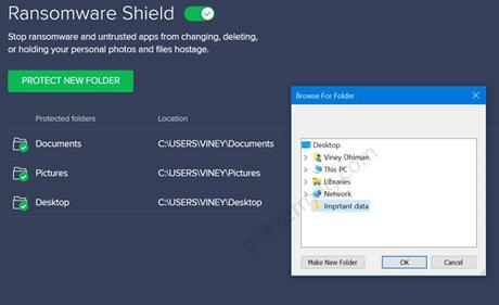 protect new folder ransomware shield