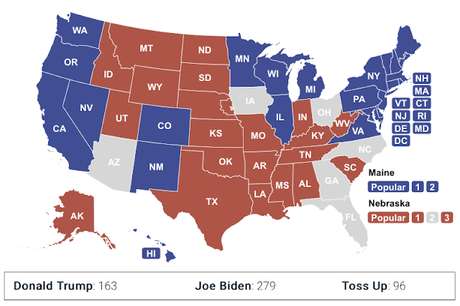 Electoral College Map For 2020 Now Favors Joe Biden