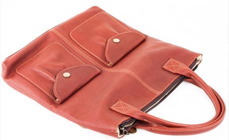 "Dámska kožená taška ""Ameli"" (lingonberry)"