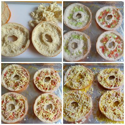 Quiche Stuffed Bagels