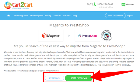 How To Migrate Magento to Prestashop Using Cart2Cart 2020