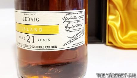 1997 Chieftain's Ledaig 21 Years Dates Label