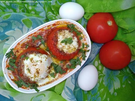 TOMATES FARCIES AUX OEUFS / EGG STUFFED TOMATOES / TOMATES RELLENOS DE HUEVO  / طماطم معمرة بالبيض