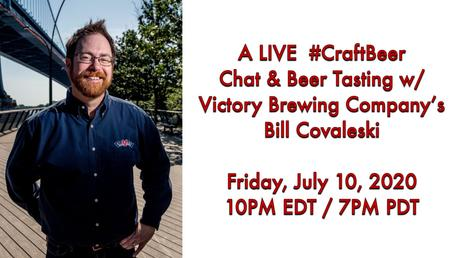 A LIVE #CraftBeer Chat & Beer Tasting with Victory Brewing Company's Bill Covaleski