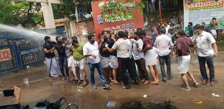 protests in Kerala against CM Pinarayi - on gold scam !!