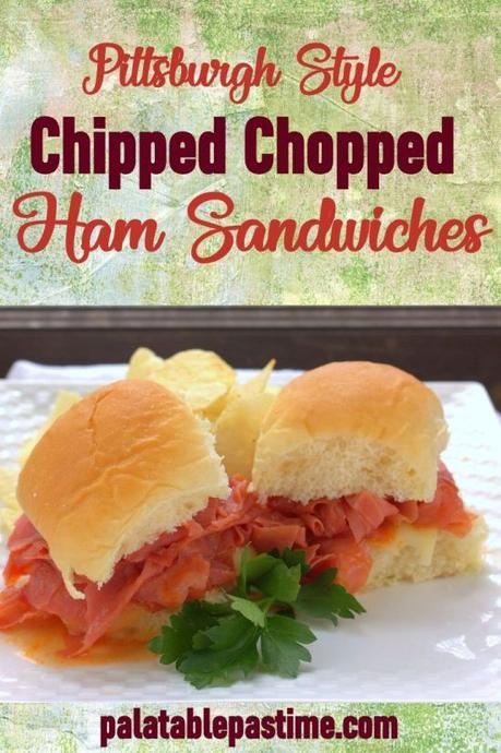 Chipped Chopped Ham Sandwiches (Barbecue Ham Sliders)