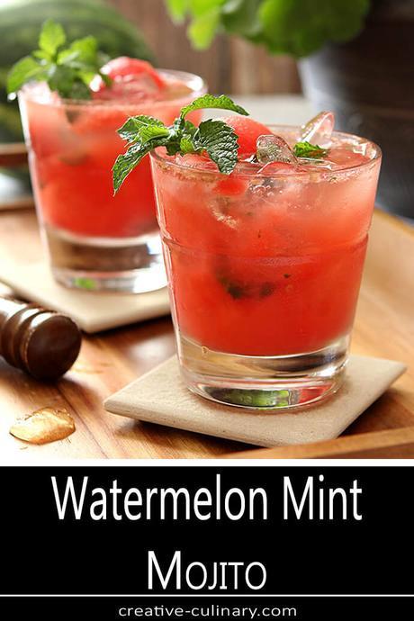 Watermelon Mint Mojito Cocktails