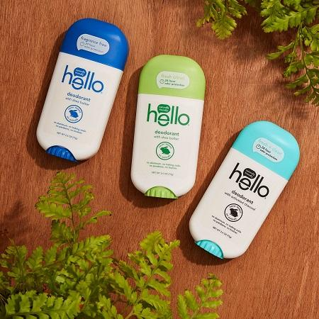 Hello Products, New Naturally Friendly™ Deodorants