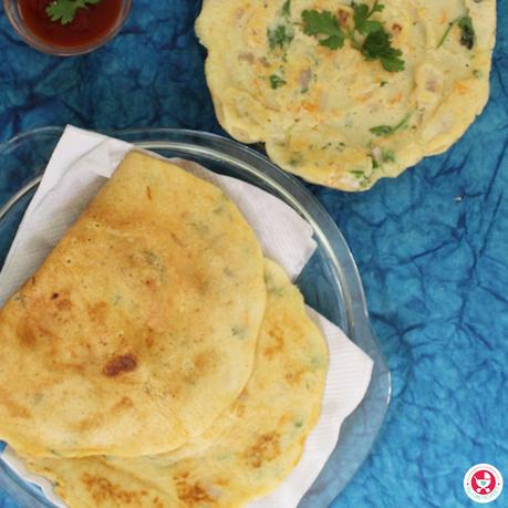 Give your regular breakfast a protein boost with this yummy and nutritious Moong dal and Urad Dal Cheela / Dosa [ Dosa recipe for Kids]!