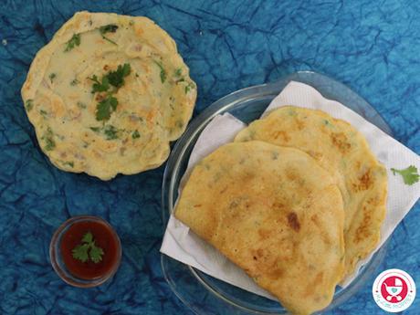 Moong dal and Urad Dal Cheela / Dosa [ Dosa recipe for Kids]