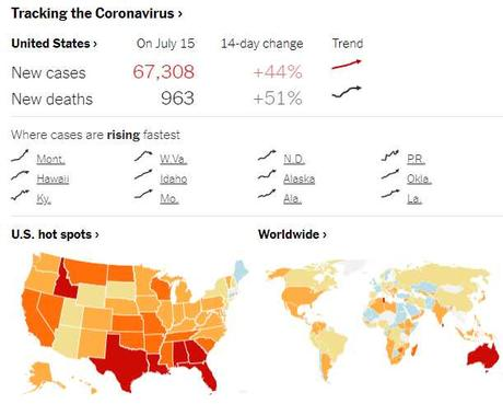 Mask On Thursday – Surging Virus Numbers Push Many States to Lock Back Down