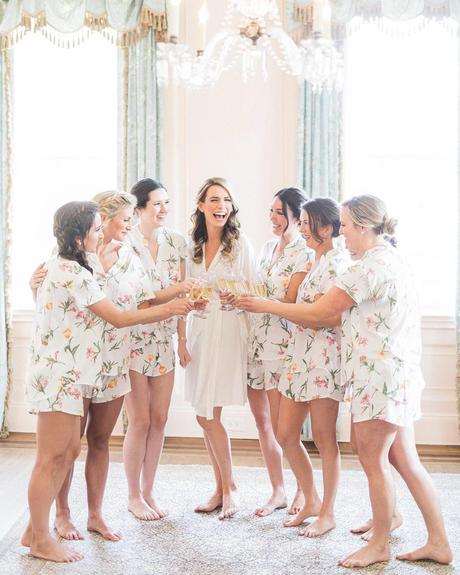 wedding planning timeline bridesmaids party bride