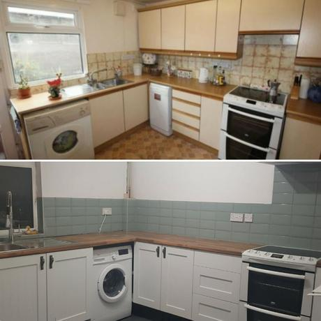 Ceri Richards - Oswestry, Shropshire before and after kitchen shot