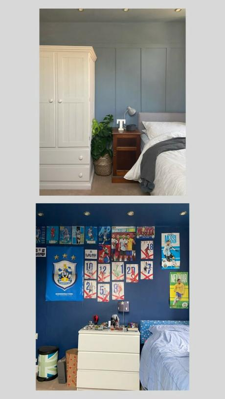 Rebecca Lewis - Huddersfield bedroom before and after