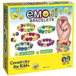 Image: Creativity for Kids Emoji Bead Bracelet Craft Kit | Makes 5 Emoji Bracelets