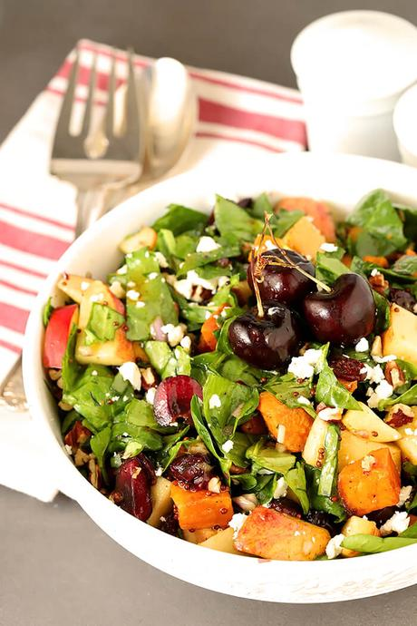 Sweet Potato and Spinach Chopped Salad